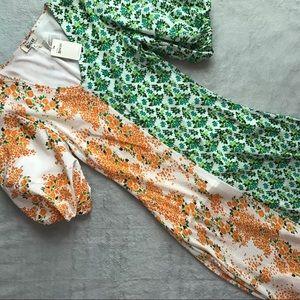 NWT All Things Mochi Rubylyn Silk Puff Sleeve Maxi